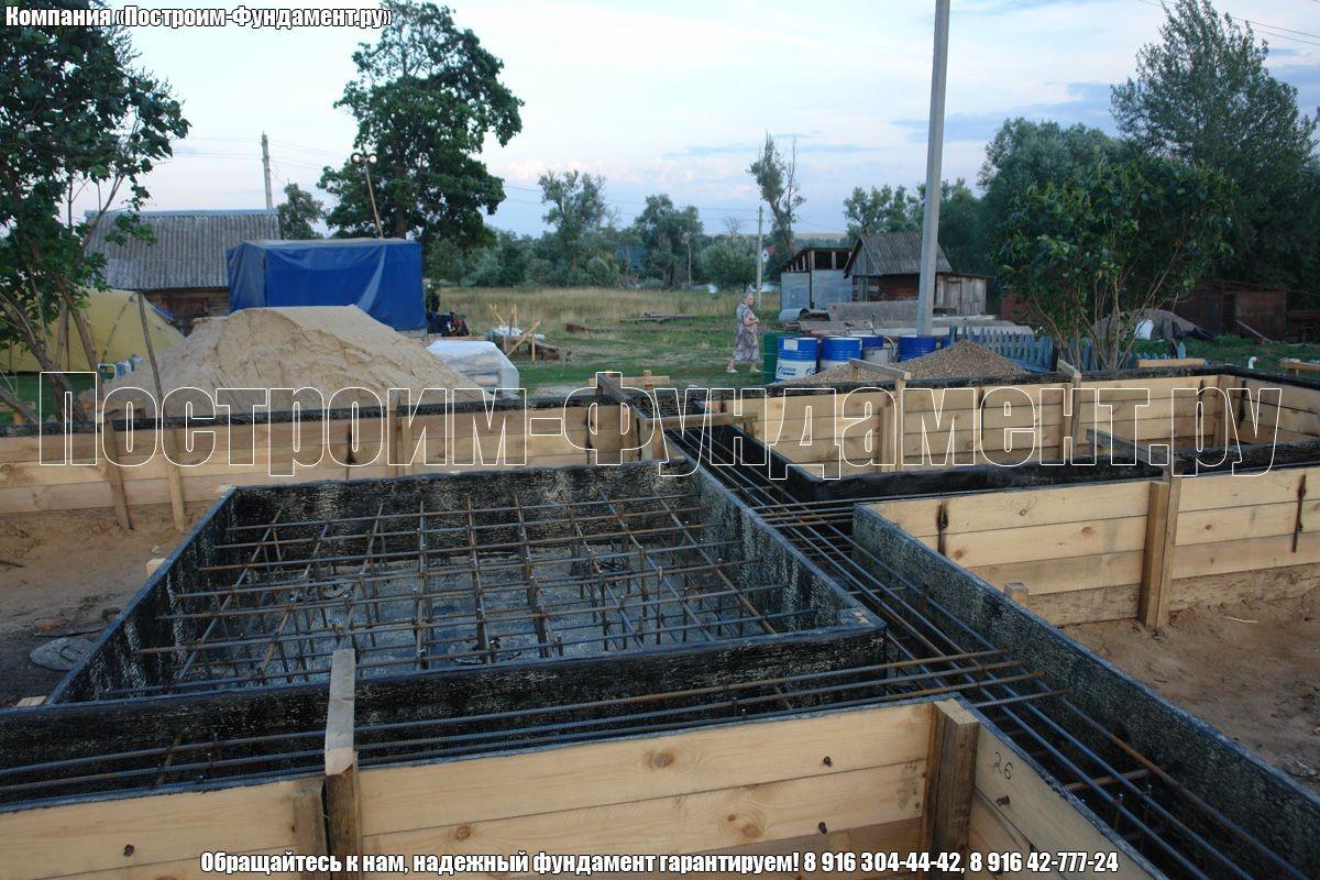 Армирование фундамента под печь - фото 24