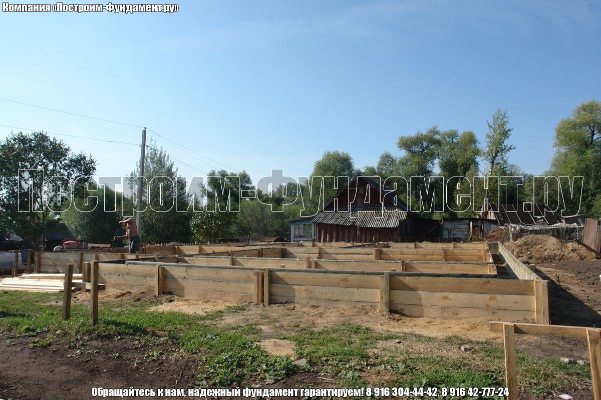 Строительство опалубки. Фундамет ТИСЭ - фото 26